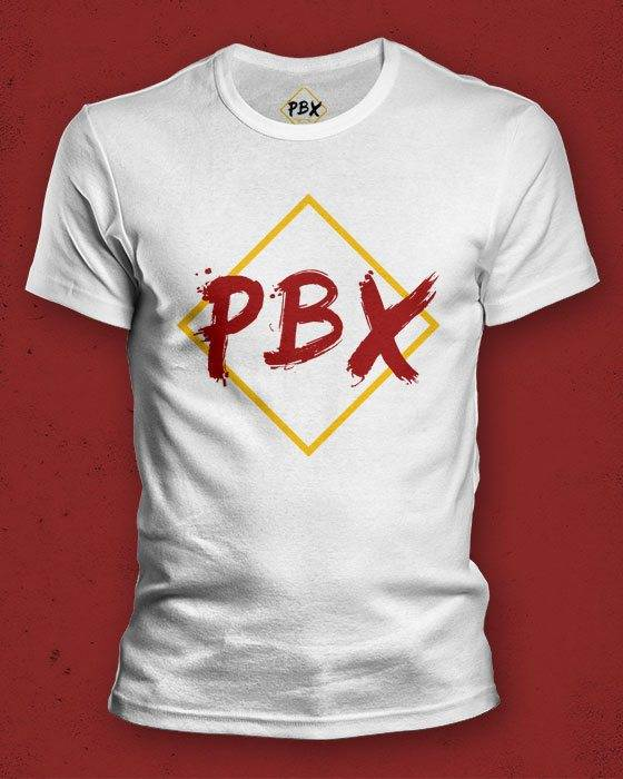 PBX T-Shirt (White w. colored logo)