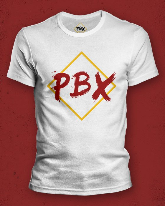 PBX T-Shirt (White w. colored logo)