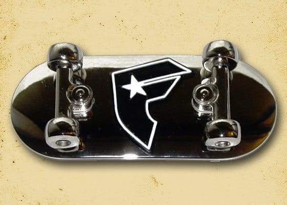 Chrome Skateboard Buckle (F-logo)